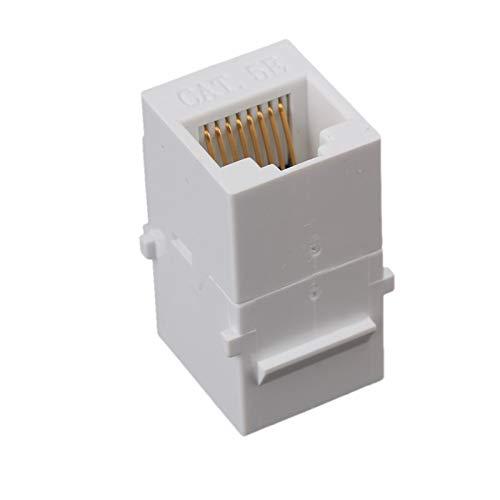 LXHY Equipo electronico Blanco CAT5 Hembra a Hembra RJ45 Ethernet Keystone Jack Pack de acopladores de 5 Seguro y confiable