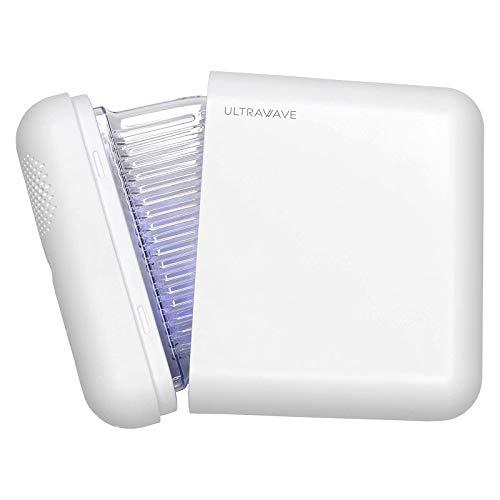 MEDIK UV-C マスク除菌ケース Ver.2 ULTRAWAVE LED深紫外線で99.9%のマスクの除菌と乾燥 小型 軽量 携帯に最適 ホワイト アクリルスタンド付き MDK-M02