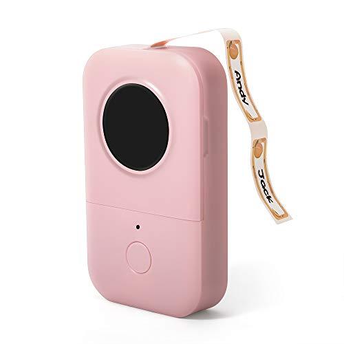 Phomemo D30 Bluetooth Etikettendrucker,Tragbarer Etikettenhersteller Thermoetikettendrucker,Name Preis Aufkleber Drucker,Für Zuhause,Büro,Datum,Name,Kompatibel für Android & iOS-System,Sakura Pink