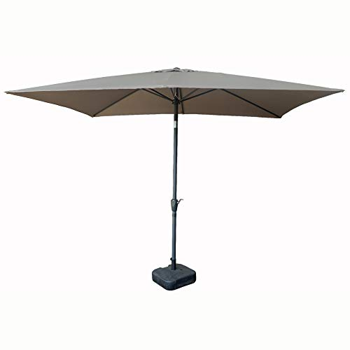 Parasol rectangle 2x3m inclinable (TAUPE)