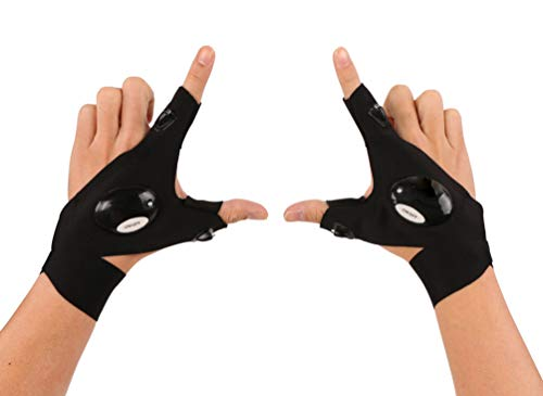 Omeet LED Flashlight Gloves Great for Outdoor Camping, Fishing, Running and Working in Darkness - XL Size Popular in European and American Markets - 1 Pair