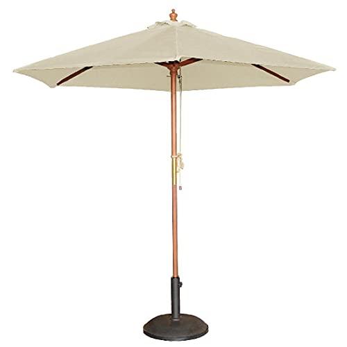 Bolero Round Parasol 252X3M Diameter Cream Base Outdoor Garden Umbrella