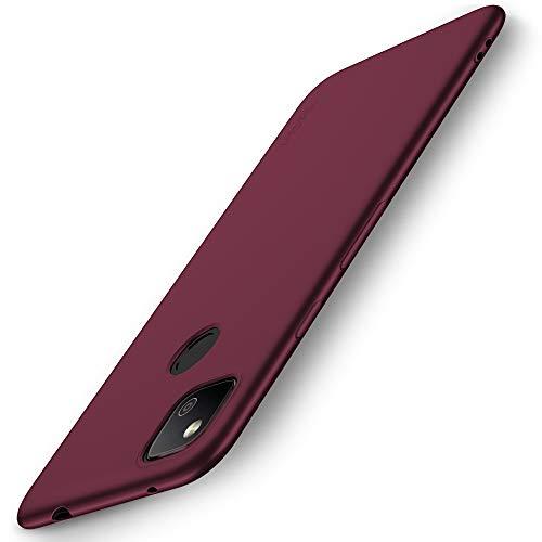 X-level Funda para Google Pixel 4a, Suave TPU Gel Silicona Ultra Fina Anti-Arañazos y Protección a Bordes Funda Phone Case para Google Pixel 4a - Vino Rojo
