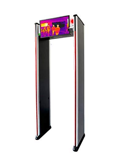 Detector De Metal De Arco De 18 Zonas Con medición De Temperatura Grabación De Video E Imagen Térmica En Tiempo Real En Monitor De 22 Pulgadas