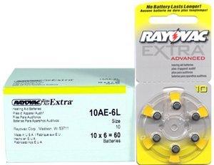 Rayovac Extra Advanced, size 10 Hearing Aid Battery (pack 60 pcs) by Rayovac Extra Advanced