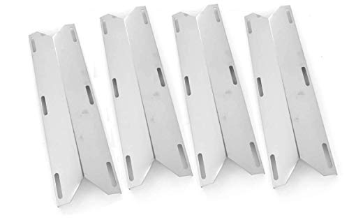 4 Pack Stainless Steel Heat Plate Replacement for Charmglow 720-0304, Kirkland 720-0433, 720-0432, SAMS 720-0582, Member's Mark 720-0584A and Perfect Flame 720-0522CAN Gas Grill Models