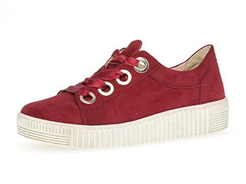 Gabor Damen Low-Top Sneaker 23.330.10, Frauen Halbschuh,Schnürschuh,Strassenschuh,Business,Freizeit,Rubin,38.5 EU / 5.5 UK