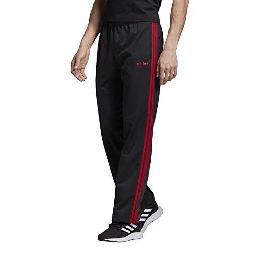 adidas Herren Essentials 3-Streifen Regular Tricot Pants Black/Scarlet, Größe L