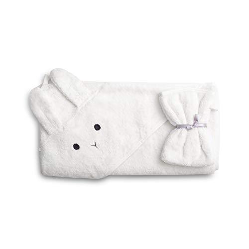 saewelo Kapuzenbadetuch aus 100% Bio-Baumwolle für Babys und Kleinkinder, 100x100cm (Weiß)