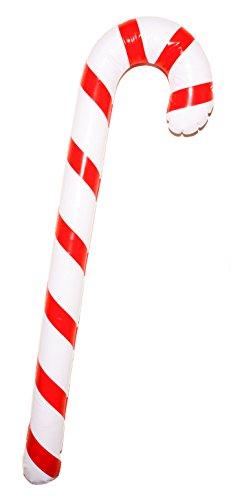 Aufblasbar Weihnachten Zuckerstange (90cm) - Weihnachtsfeier Dekoration / Kostümzubehör