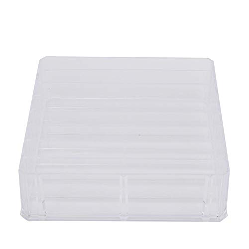 Alinory Cosmetic Holder, Compartiment Acrylic Clear Makeup Holder Cosmetic Holder Storage Box Case Jewelry Organizer