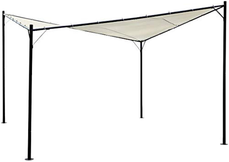 ASS Eleganter Gartenpavillon Schmetterling Butterfly Pavillon Sonnensegel 4x4 Meter 16m2 Dach, UV30+ Modell  Paros von