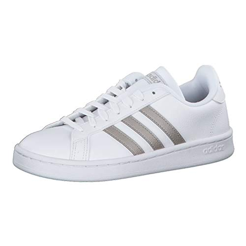 Adidas Grand Court, Zapatillas de Deporte para Mujer, Multicolor (Ftwbla/Metpla/Ftwbla 000), 44 EU
