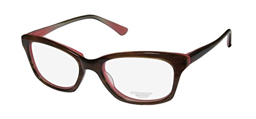 Price comparison product image Oliver Peoples Portia Womens / Ladies Designer Full-rim Elegant Hip Ophthalmic Eyeglasses / Glasses (49-17-135,  Stripped Brown / Rose)
