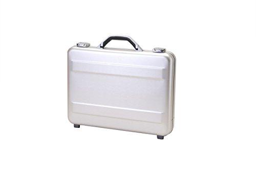 T.Z. Case International T.z Slimline Molded Aluminum Attache Case, Silver, 18 X 13 X 3, 18 x 13 x 3 inch