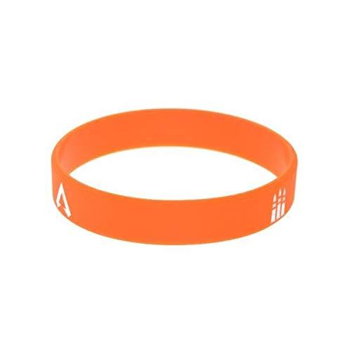Xi-Link Pulsera Apex Leyendas Silicona Suave Muñequeras Correa Tirador De Ciencia Ficción (Color : Orange)
