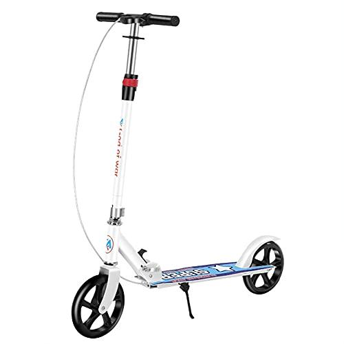 XCVMKH Stunt Scooter Freestyle Stunt Scooter Estilo de bicicleta Scooter de rueda de poliuretano de alta elasticidad Adecuado para niños mayores de 8 años y niños pequeños y principiantes Plegable con
