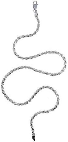 Y'ALL Diamond Cut 1.5-5.4mm Sterling Silver Chain Rope トレンド - おしゃれ