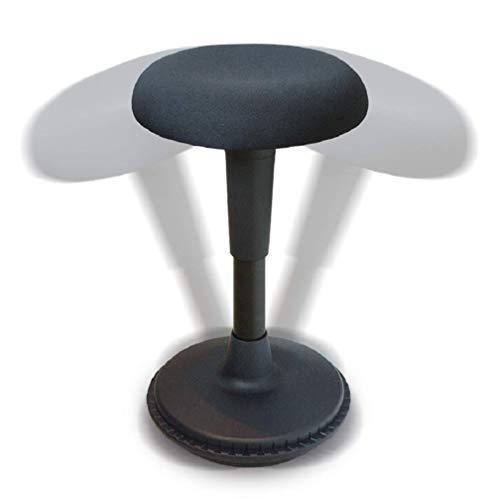 Wobblez Ergonomischer Bürostuhl | Rückenschonender Wackelhocker Höhenverstellbar von 43-63 cm für einen Normalen Schreibtisch | Balance Hocker | Ergonomischer Schreibtischhocker