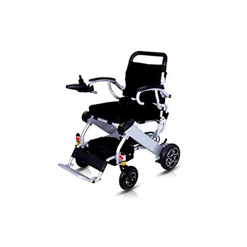 Rollstuhl mit Elektroantrieb für Ältere Menschen, Leicht Zusammenklappbar, 23 Kg (20 Km Reichweite), 360 ° -Joystick, Gewichtskapazität 100 Kg, Sitzbreite 40 Cm, Motorisierte Rollstühle, Flugzeug Kan