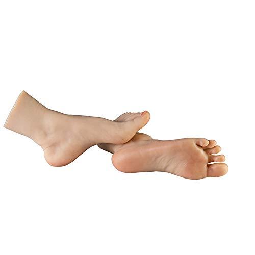 ZLSN Silicona Pies Modelo Bailarina Simulación 1 Par Foto Zapatos Modelo Lifisize 1: 1, Fetiche del pie Accesorios de Modelos Simulación de Modelos de la Vida Real de pies protésicos