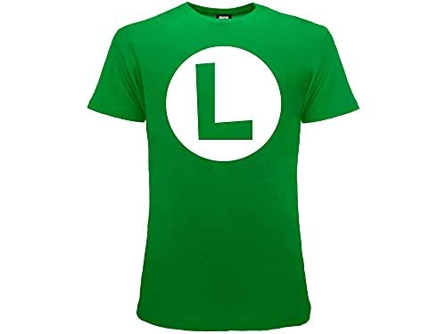Fashion UK Camiseta Luigi Super Mario...