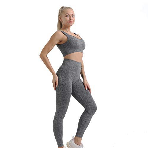 Lixada Conjunto de Ropa Deportiva de Entrenamiento de Ropa de Yoga para Mujer