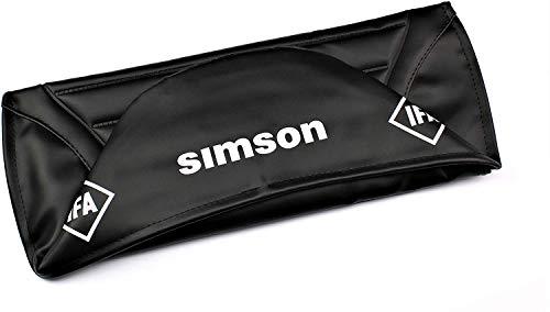 Sitzbankbezug Schwarz strukturiert gesteppt für Simson S50 S51 mit IFA Logo