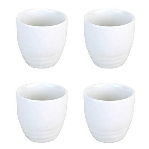 JapanBargain 2724x4, Sake Cups Set Japanese Porcelain Wine Saki Cup Small Tea Cup Microwave and Dishwasher Safe Set of 4, White