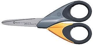 ACME United Europe e della 3055000Forbici Titanium UltraSmooth dritto, 13cm/5pollici, Giallo/Grigio
