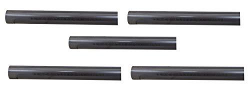 well2wellness® PVC Rohr 50mm PVC Druckrohr 50mm 10 bar - 5 x 1 Meter