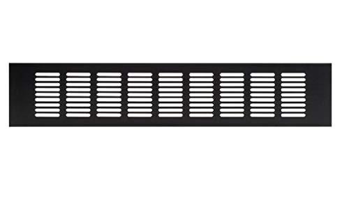 80x500mm Aluminium Lüftungsgitter Dunkelbraun Stegblech Lüftung Alu-Gitter Gitter Möbelgitter Möbellüftung