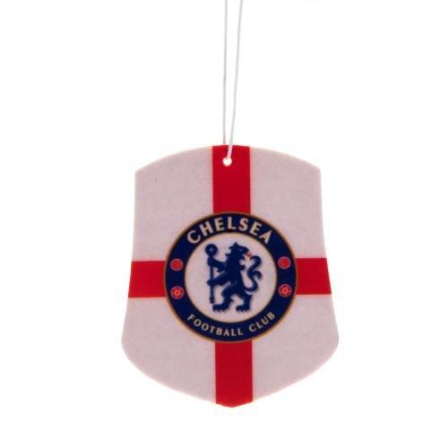 Ambientador del Chelsea F.C. St George- Crest - Ambientador (Aprox. 8 cm x 6 cm), en una Tarjeta de cabecera, Producto Oficial con Licencia Oficial