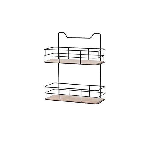 Wall Shelves Brackets Modern Iron Storage Organizer Shelf Rack Basket for Kitchen Cabinets Pantry Closets Bedrooms Bathrooms (Color : Golden)