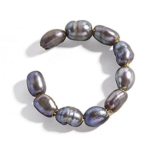 WEUITEE 1 pieza pendiente pendiente sin perforación para las mujeres perla clip en pendiente set cartílago aro oreja brazalete perla pendientes pendientes pendientes con diamantes