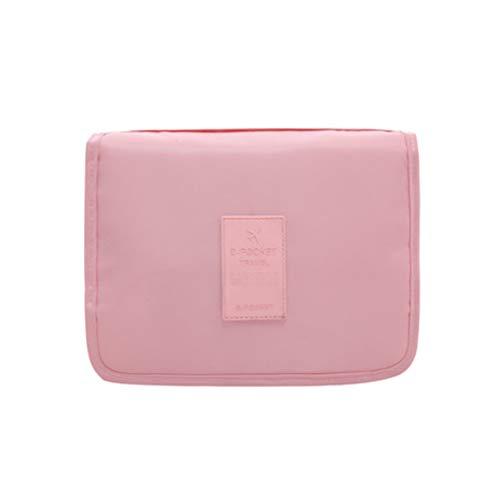 Sac de rangement de Voyage Portable de Finition Sac de Lavage extérieur Grande capacité de Stockage de Produits cosmétiques (Color : Pink B)