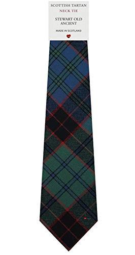 I Luv Ltd Cravate en Laine pour Homme Tissée et Fabriquée en Ecosse à Stewart Old Ancient Tartan