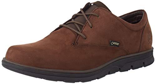 Timberland Bradstreet Casual Oxford Gore-Tex, Zapatos de Cordones Hombre, Marrón Dark Brown Nubuck, 40 EU