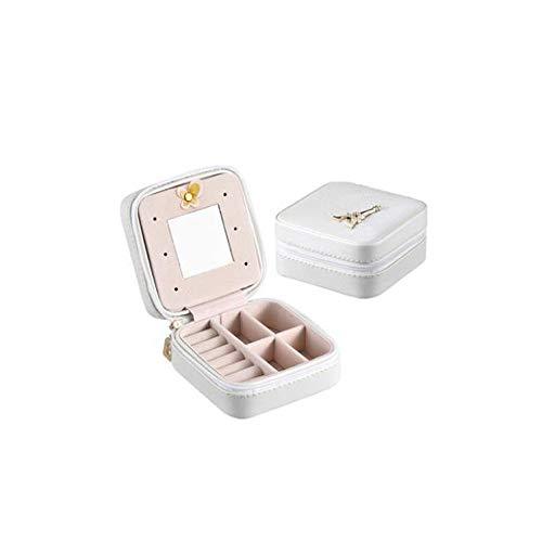 Schmuckschatulle Mit Spiegel Premium-Juwelenaufbewahrung Und Vitrine Für Ringe Halsketten Ohrringe Armbänder Mit Innenfächern,Silver