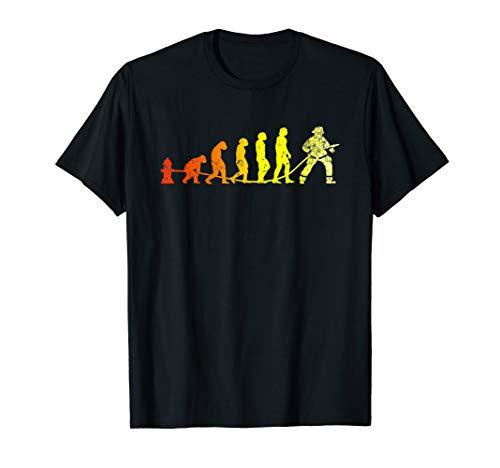 Feuerwehr Evolution   Cooles Vintage Feuerwehrmann T-Shirt