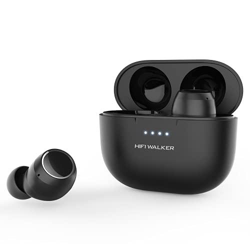 HIFI WALKER Auricolari Wireless, Auricolari Bluetooth con Microfono e Controllo Touch, Auricolari Audio Stereo HiFi Nell'orecchio, Neri