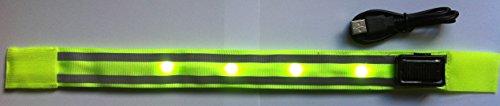 Amahousse-sport-Brazalete fluorescente Deluxe solar de seguridad LED reflectante, auto adaptable