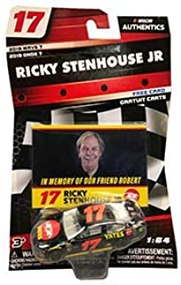 2018 Wave 7 Ricky Stenhouse #17 Robert Yates Tribute 1/64 Scale Diecast Lionel NASCAR Authentics With Bonus Collector Card Insert