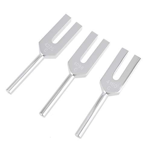 JAP768 3pcs Aluminiumlegierung-Engels-Kristall Stimmgabel 4096Hz / 4160Hz / 4225Hz Energie Stimmgabel