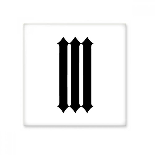 Romeinse cijfers Drie In Zwart silhouet Keramische Bisque Tegels Badkamer Decor Keuken Keramische Tegels Wandtegels L