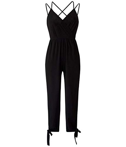BCBGeneration Damen Surplice Sleeveless Jumpsuit, schwarz, XX-Small (32)