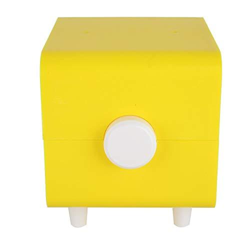 Emoshayoga Résistance à l'eau Boîte à Serviettes en Papier résistant à la Corrosion Support de Papier Absorbant en matériau ABS pour Le Stockage du Rouleau de Papier pour la Chambre à(Yellow)