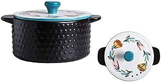 BLLXMX Casseroles Ceramic Cookware-casserole With Lid and Non-stick Pot 1.6L 2L 4L (Size : 1.6L)