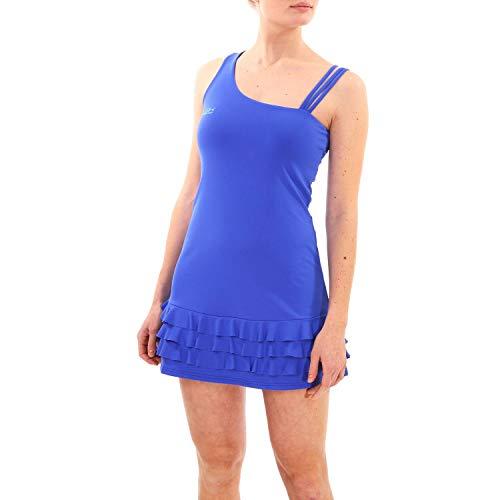 Sportkind Mädchen & Damen Tenniskleid mit Rüschen, Kobaltblau, Gr. XL
