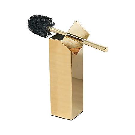 bgl Support pour brosse WC en acier inoxydable 304 pour salle de bain et hôtel (doré)